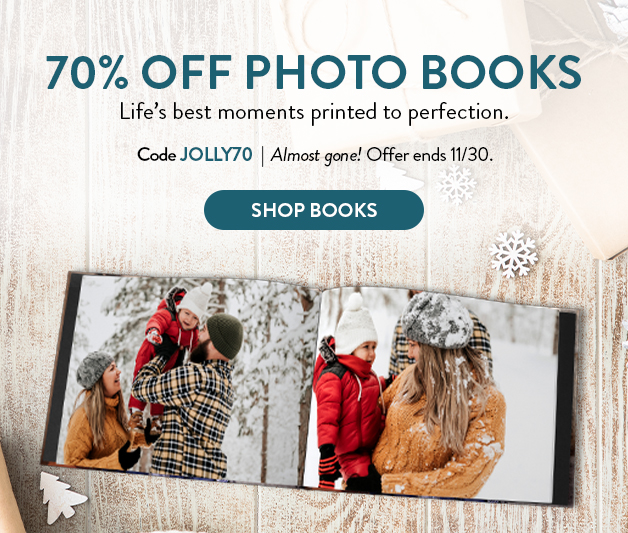 70% off all Photo Books