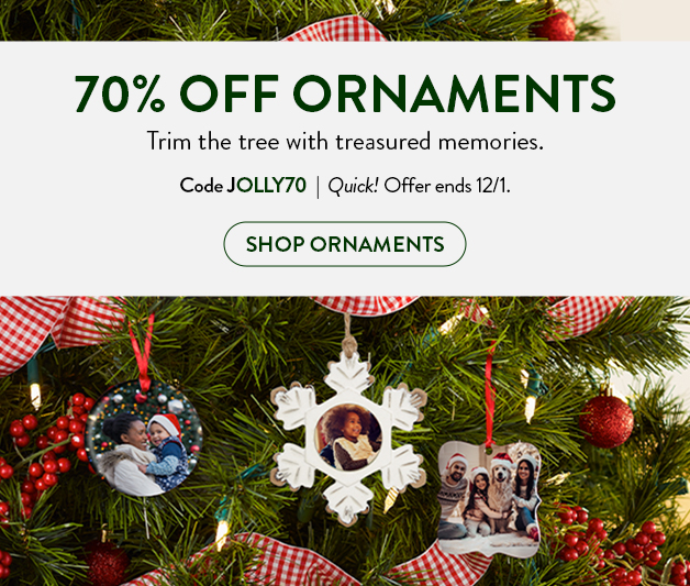 70% off Ornaments
