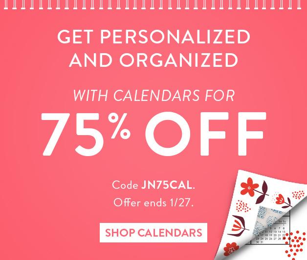 75% off calendars