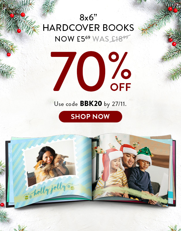 Up to 70% off Photo Books!