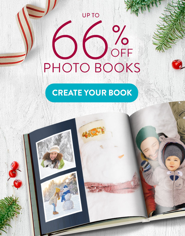 Up to 66% off Photo Books!