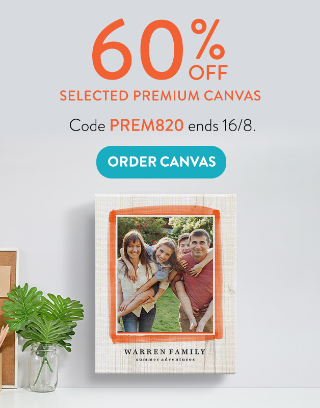 60% off selected Premium Canvas!