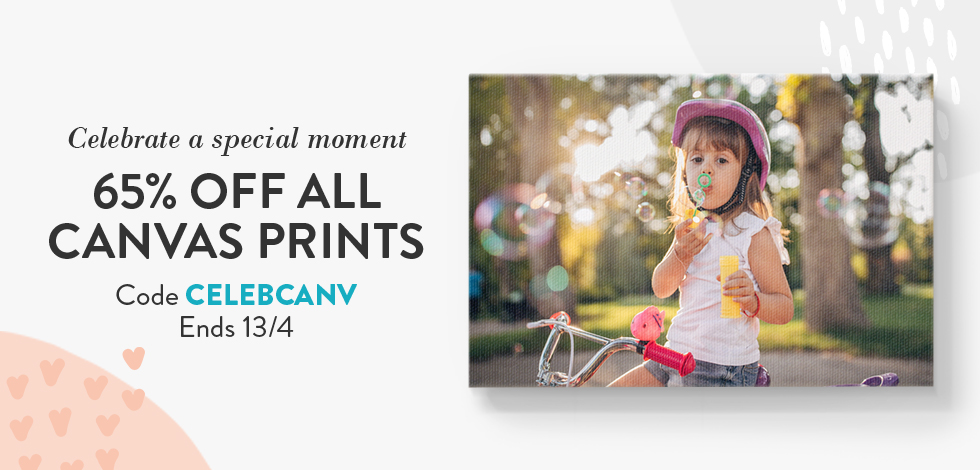 65% off all Canvas Prints