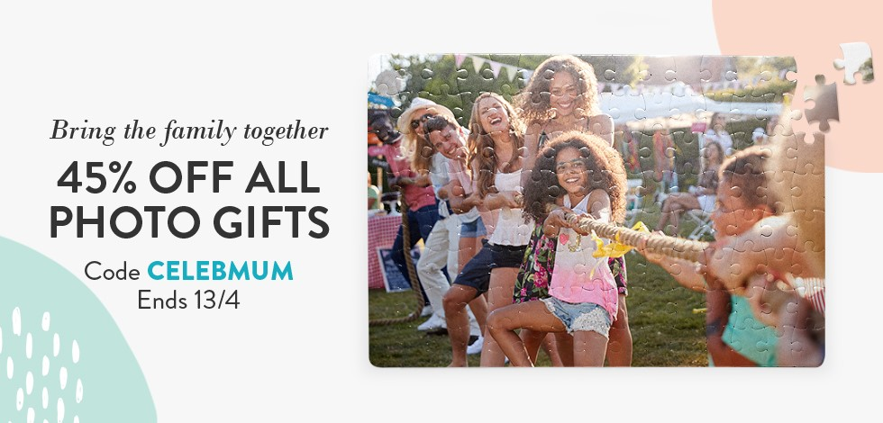 45% off all Photo Gifts