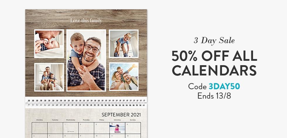 50% off all Calendars