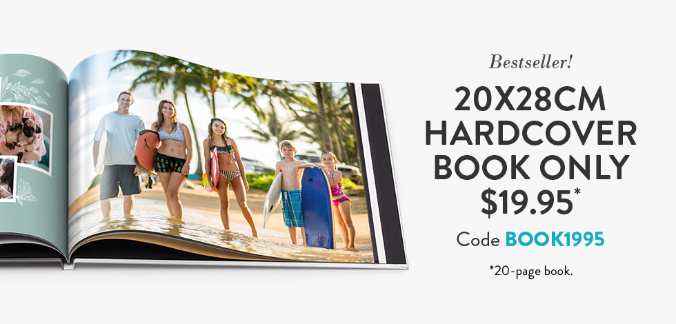 20x28cm Hardcover Book. Only $19.95*