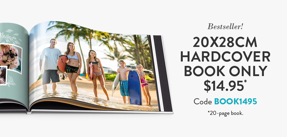 20x28cm Hardcover Book. Only $14.95*