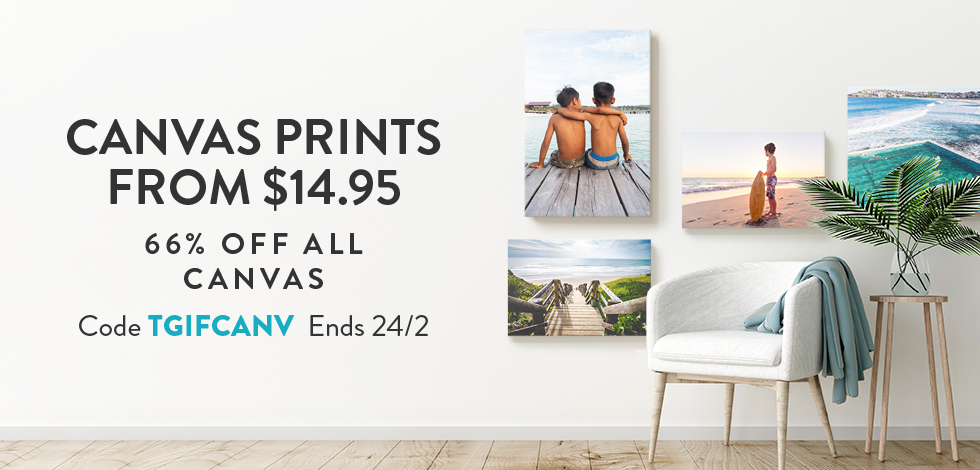 66% off all Canvas Prints