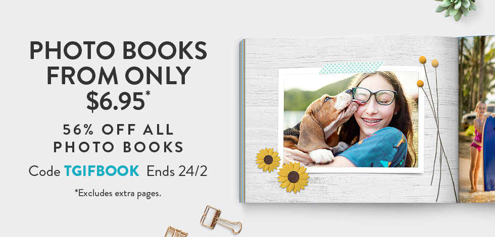 56% off all Photo Books*