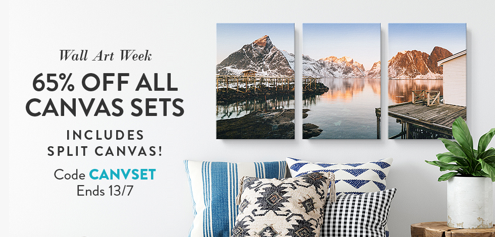 65% off all Canvas Sets