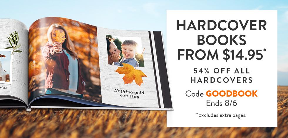 54% off Hardcover Books*