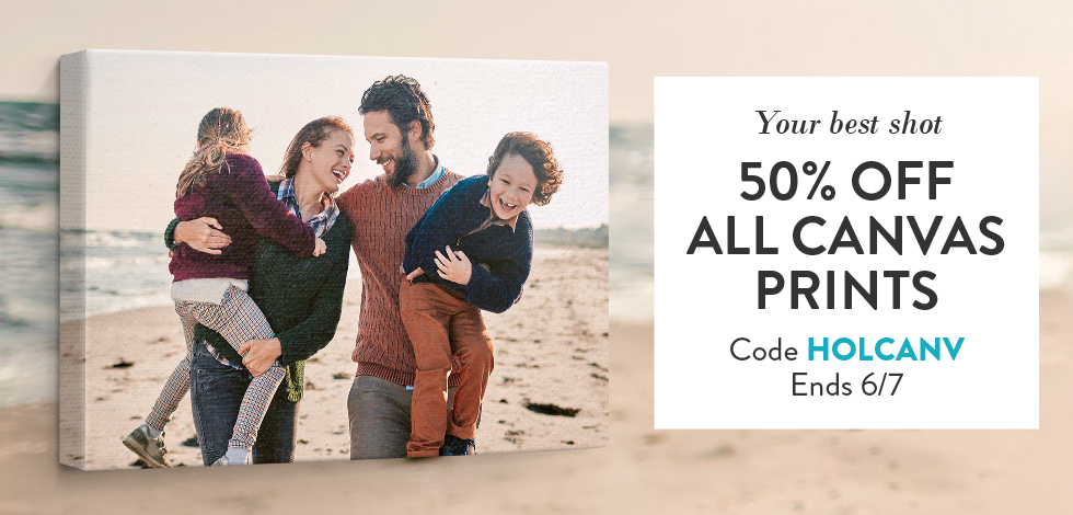 50% off all Canvas Prints