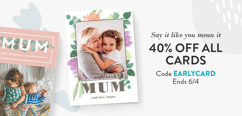 40% off all Cards