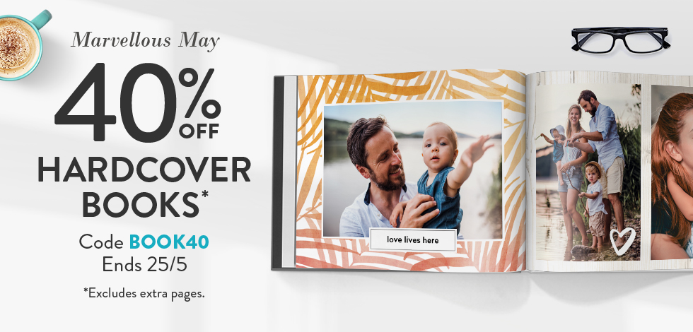40% off Hardcover Books*