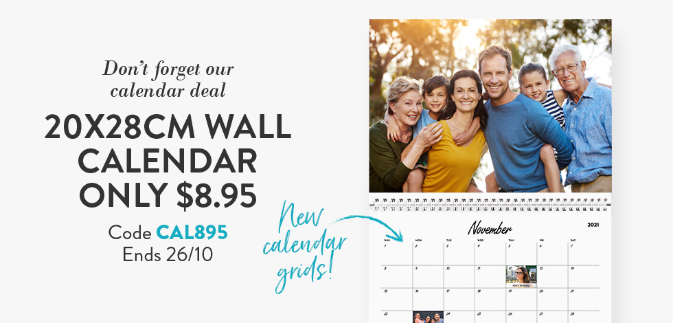 20x28cm Wall Calendar - $8.95