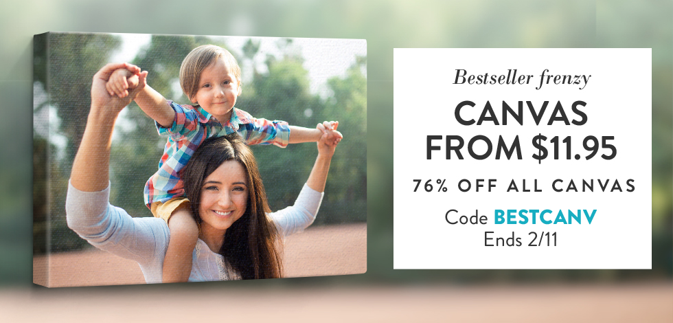 76% off all Canvas Prints