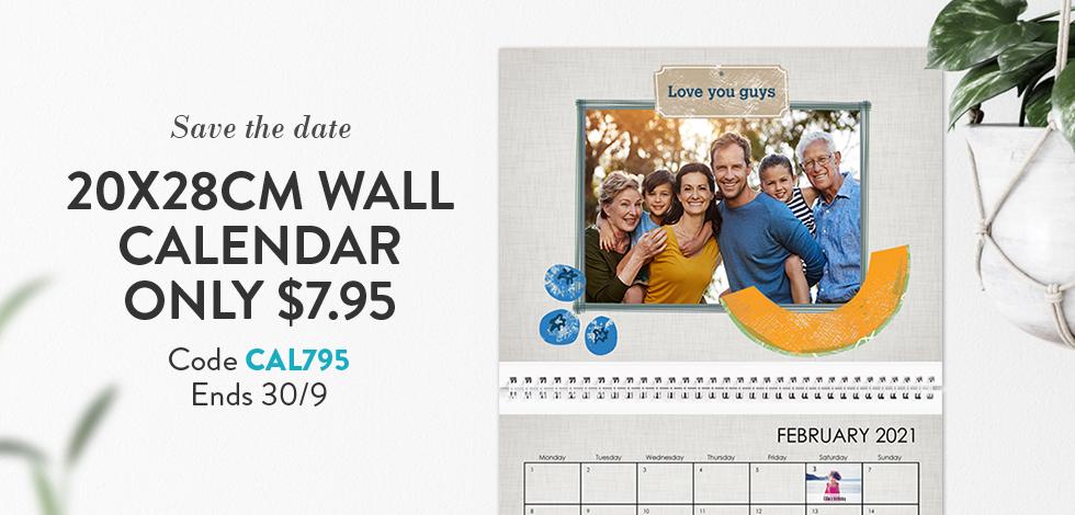 20x28cm Wall Calendar - $7.95