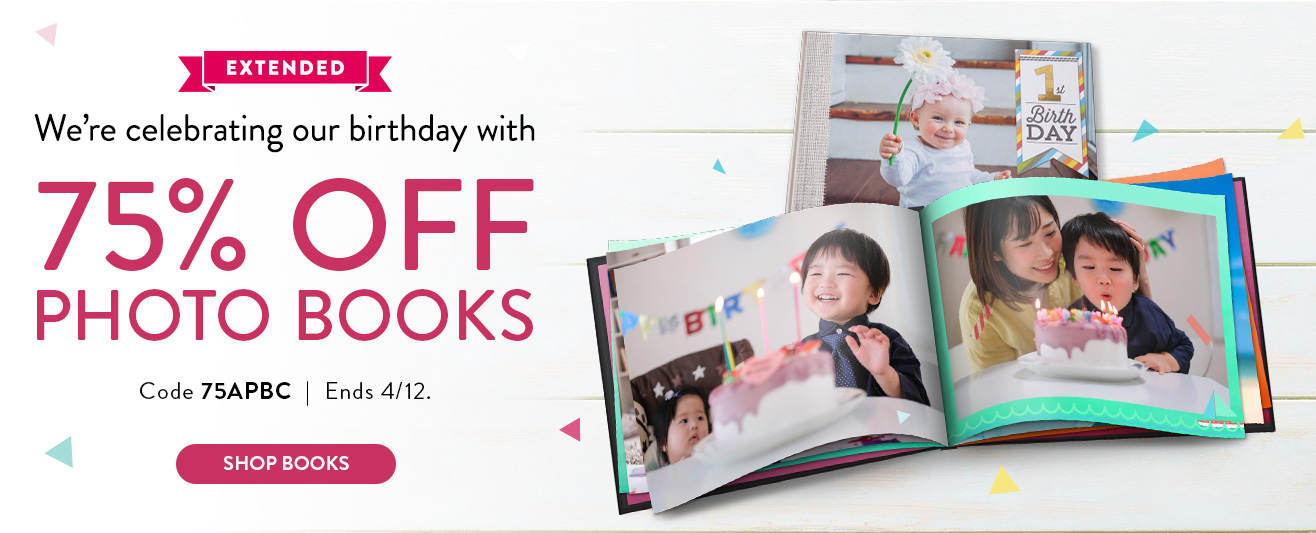 75% off Photo Books