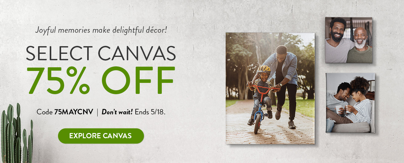 75% off Unframed Canvas Prints