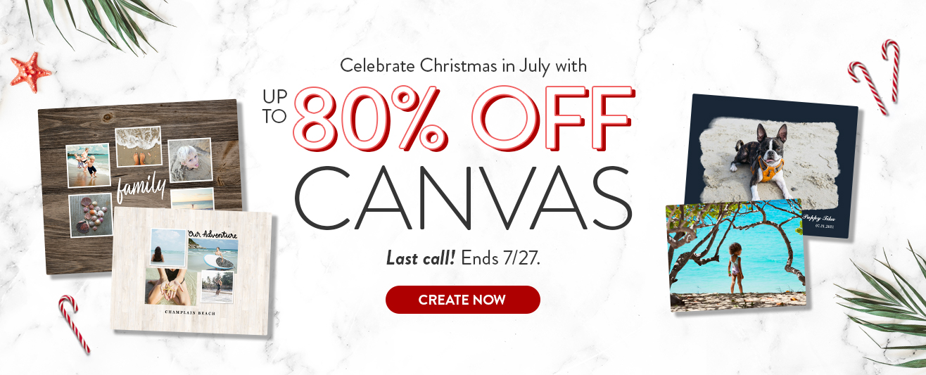 Up to 80% off Canvas