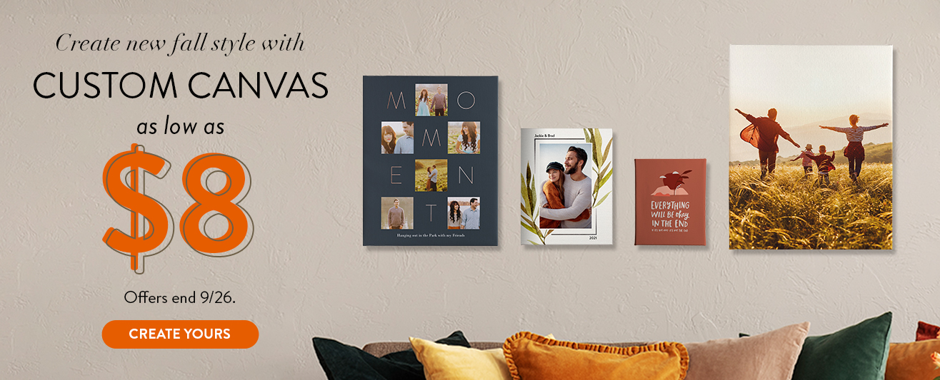 Canvas as low as $8
