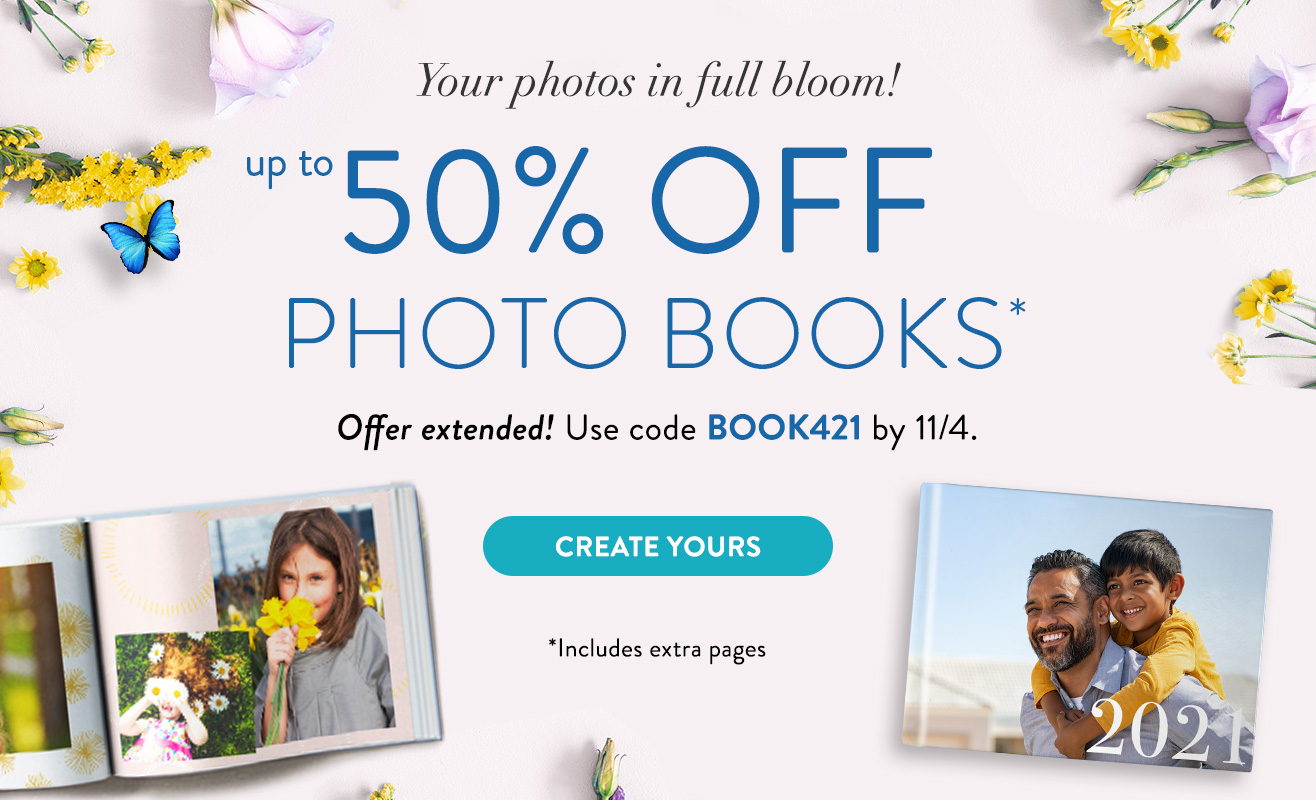 Up to 50% off Photo Books!
