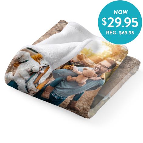 75x100cm Plush Fleece Blanket