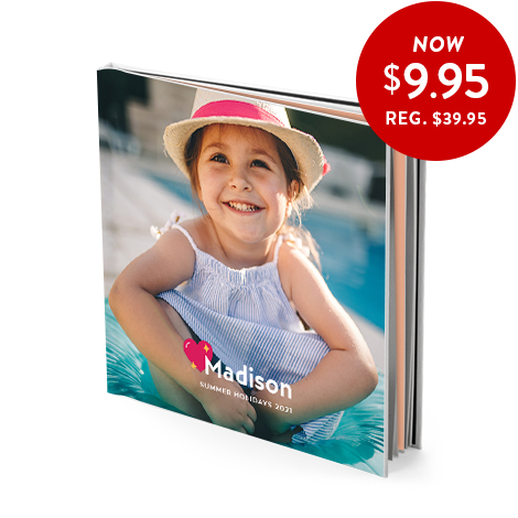 20x20cm hardcover book (satin pages)