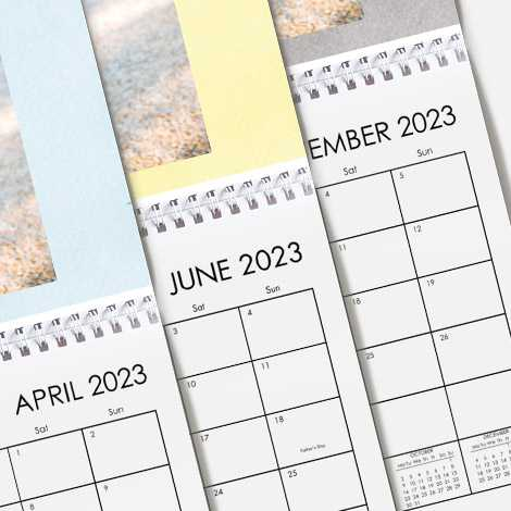 Start your calendar from any month of the year