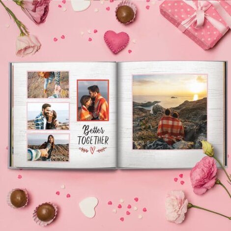 Valentine's Day themed photo book