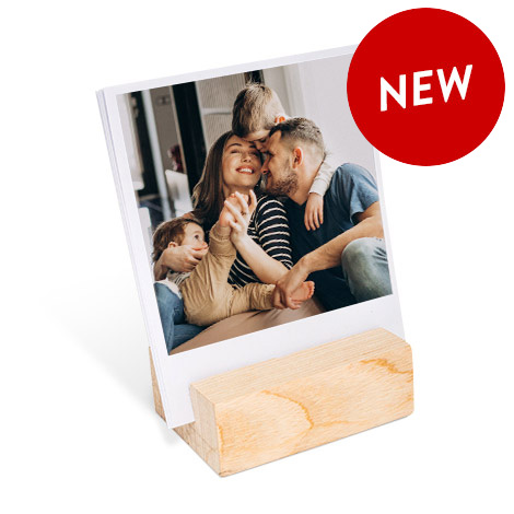 Wood Block Photo Print showing family with kids