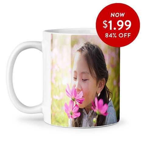 84% off 11oz. Photo Coffee Mugs