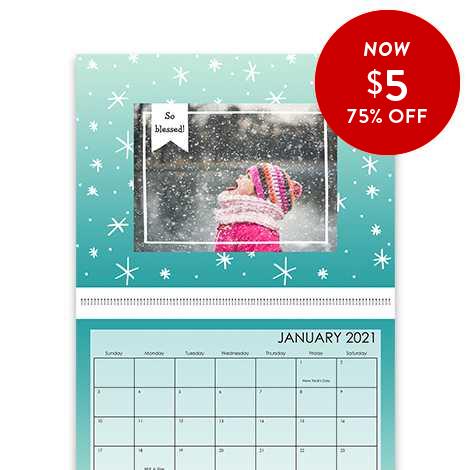 75% of 8.5x11 Wall Calendars