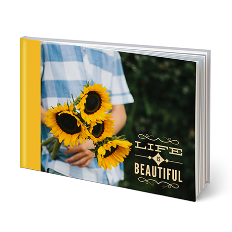 "20-page 8"" x 11"" Landscape Custom Hardcover Photo Book"