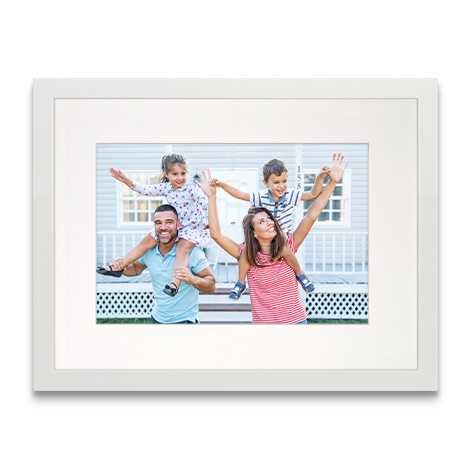 Framed Matted Prints, White