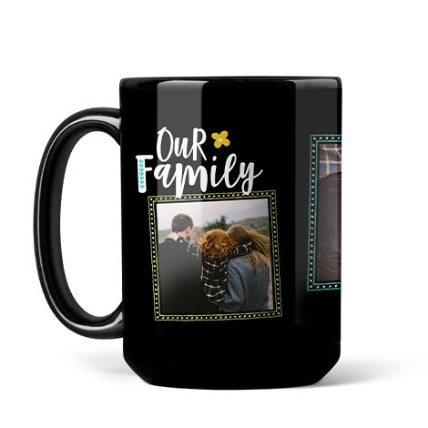 Photo Coffee Mug, 15oz., Black