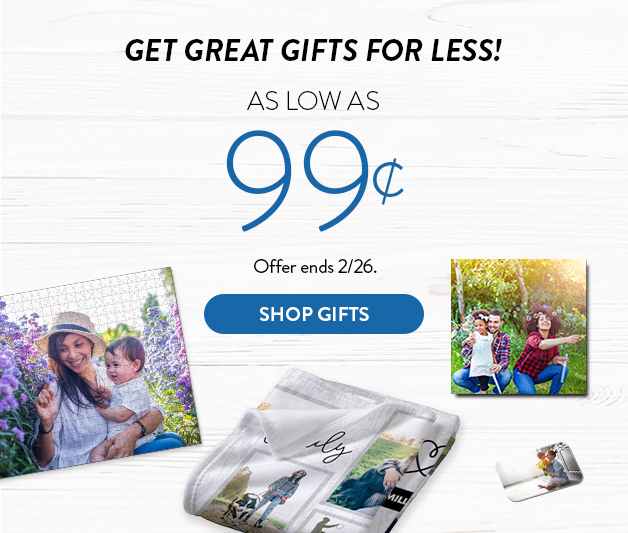 Gifts as low as 99cents