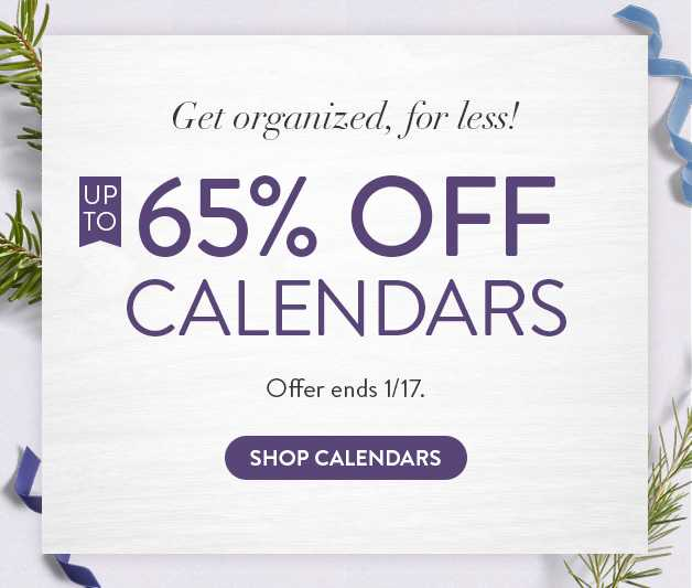 Up to 65% off Calendars