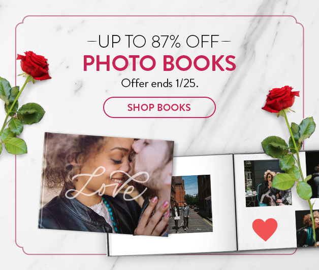 up to 87% off photo books