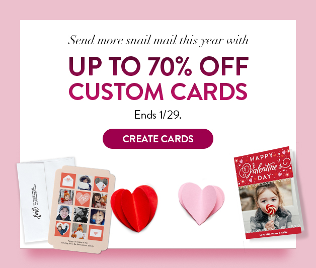 Up to 70% off Cards