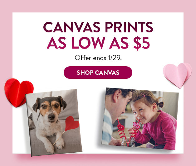 Canvas Prints as low as $5