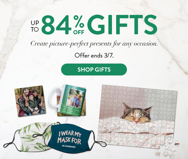 Up to 84% off Photo Gifts