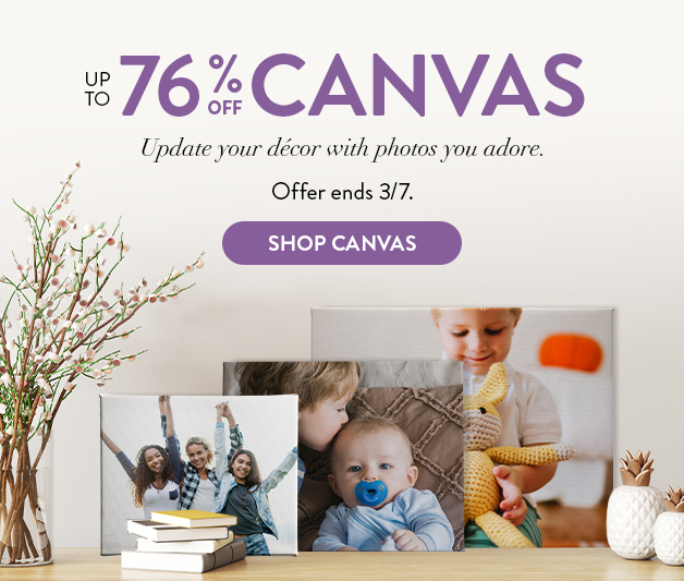 up to 76% off canvas prints