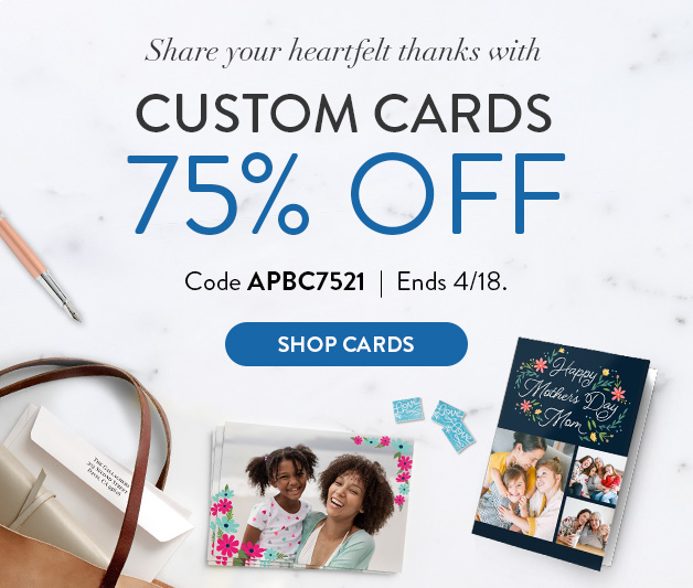 75% off all Cards