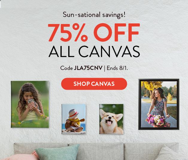 75% off Canvas Prints