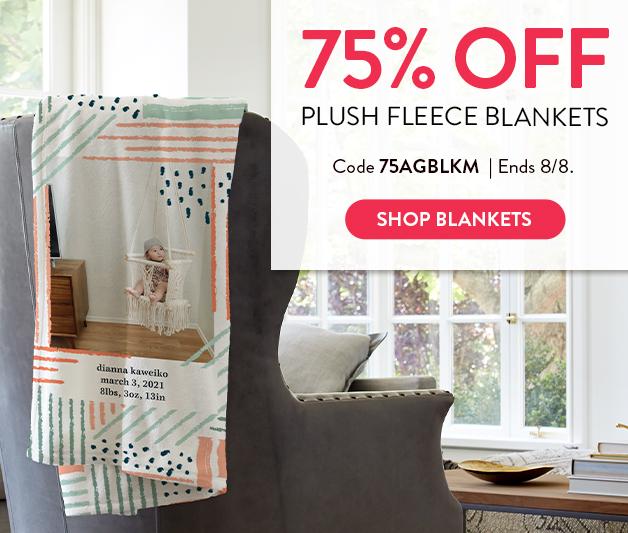 75% off Plush Fleece Blankets