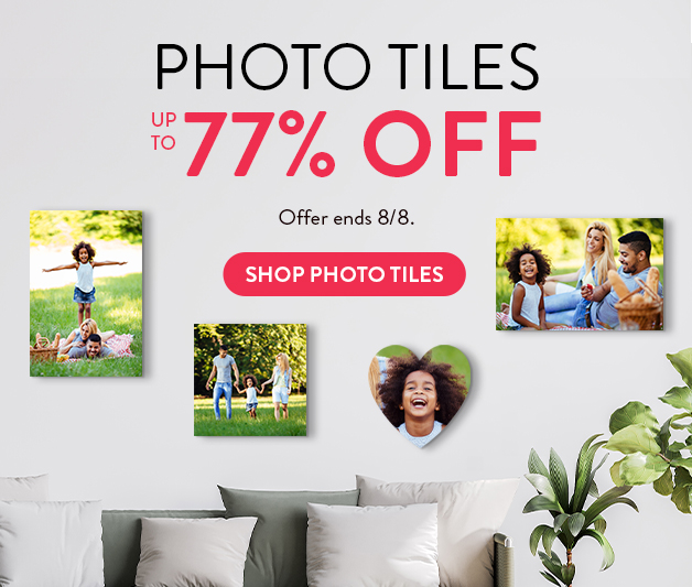 Up to 77% off Photo Tiles