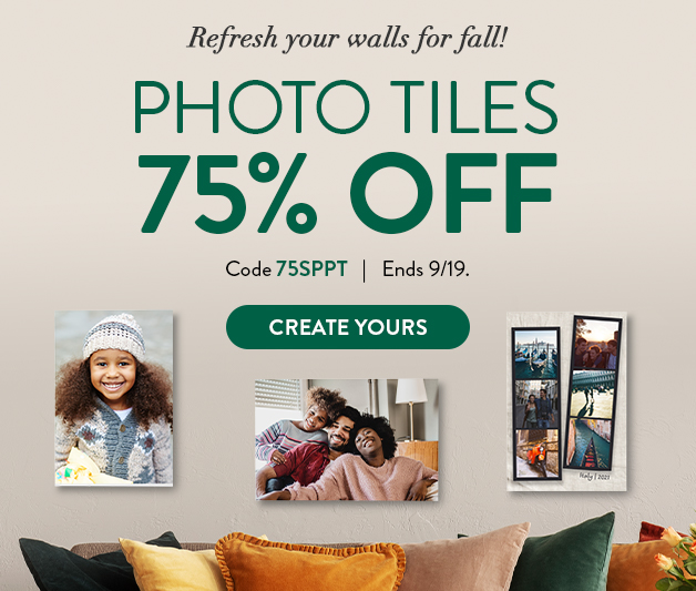 75% off Photo Tiles