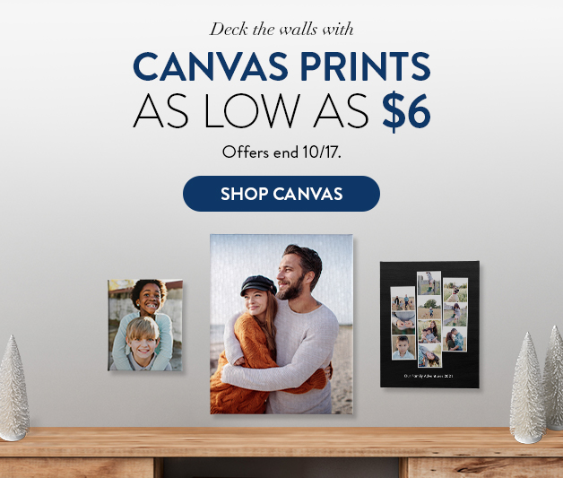 Canvas Prints as low as $6