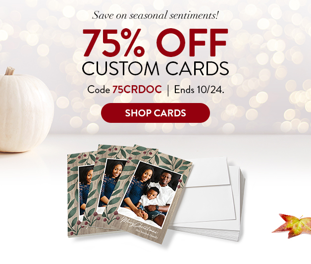 75% off Cards